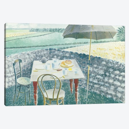 Tea At Furlongs Canvas Print #BMN11296} by Eric Ravilious Canvas Artwork