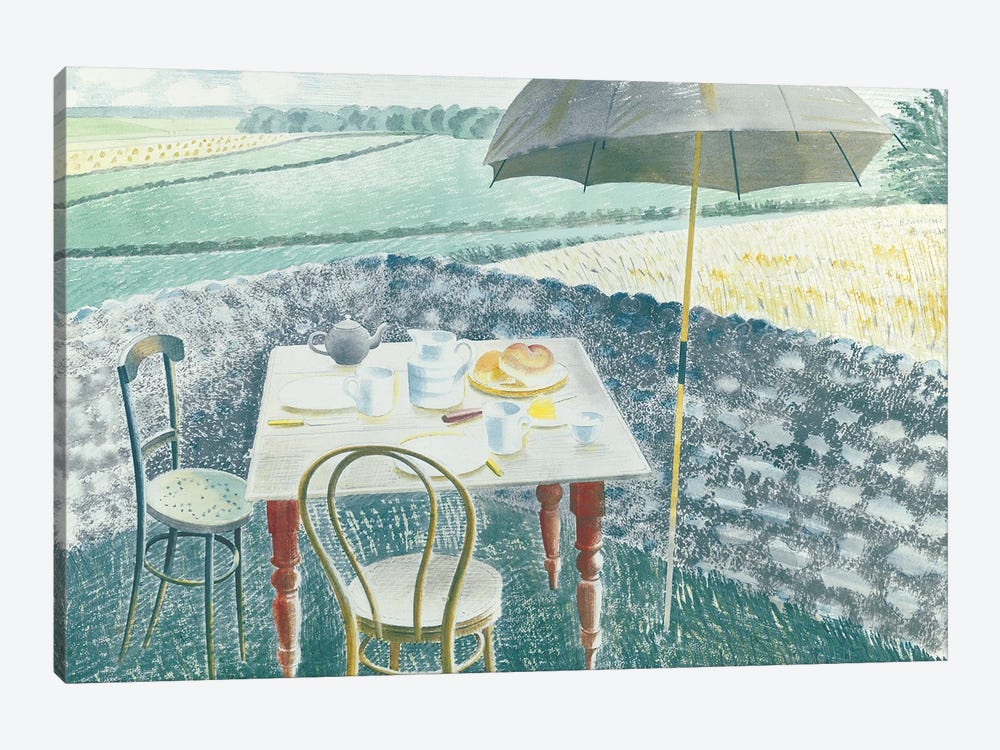 Tea At Furlongs by Eric Ravilious 1-piece Canvas Artwork