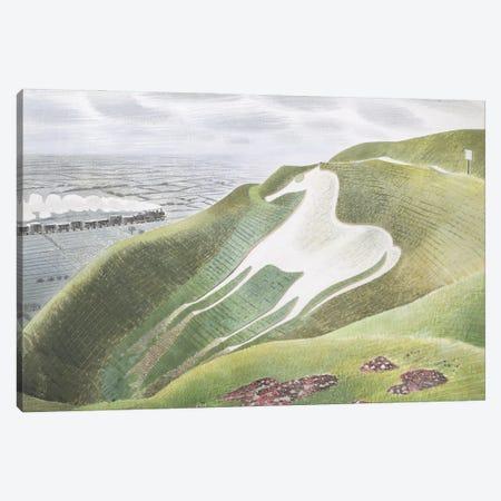 The Westbury Horse Canvas Print #BMN11297} by Eric Ravilious Canvas Artwork
