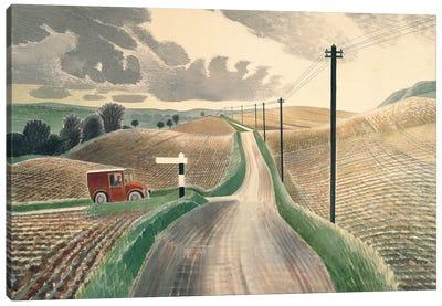 Wiltshire Landscape, 1937 Canvas Art Print