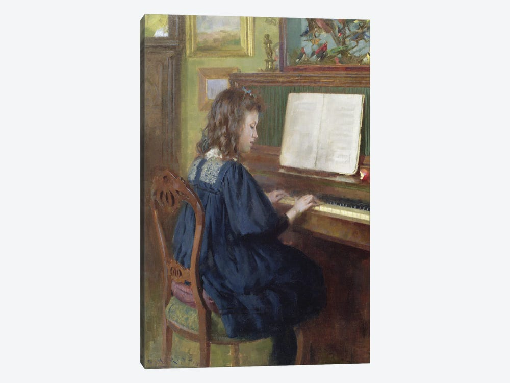 Playing The Piano by Ernest Higgins Rigg 1-piece Art Print