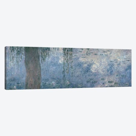 Waterlilies: Morning with Weeping Willows, 1914-18  Canvas Print #BMN1129} by Claude Monet Canvas Art Print