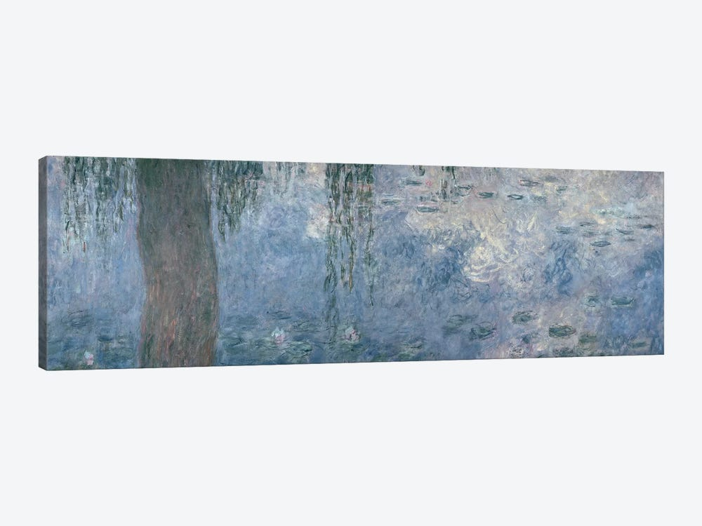 Waterlilies: Morning with Weeping Willows, 1914-18  by Claude Monet 1-piece Canvas Print