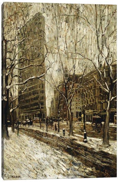 The Flatiron Building, New York, 1903-05 Canvas Art Print