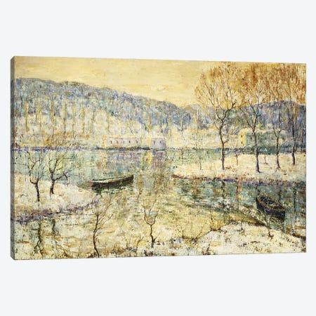 Winter Stream Canvas Print #BMN11302} by Ernest Lawson Art Print