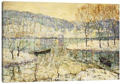 Winter Stream Canvas Art Print