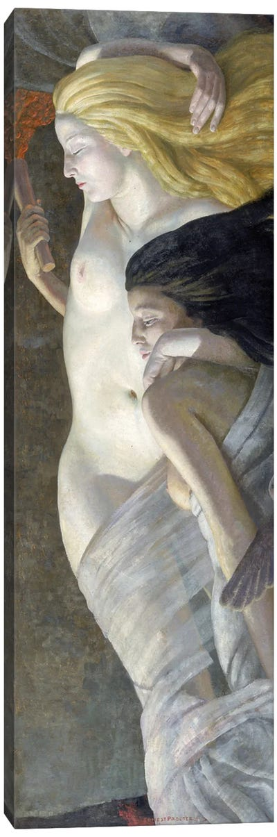 Night And Evening, c.1930 Canvas Art Print
