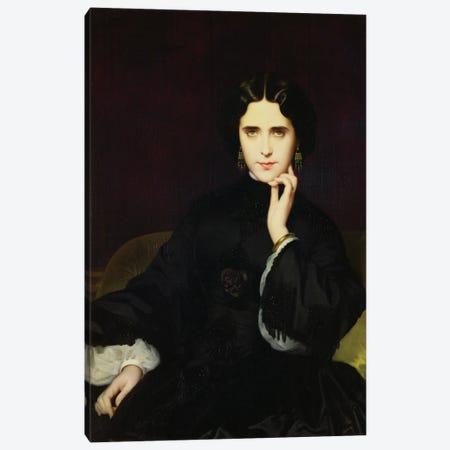 Portrait Of Jeanne de Tourbey, 1862 Canvas Print #BMN11307} by Eugene Emmanuel Amaury-Duval Canvas Wall Art