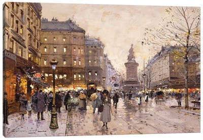 An Autumn Evening In Paris Canvas Art Print