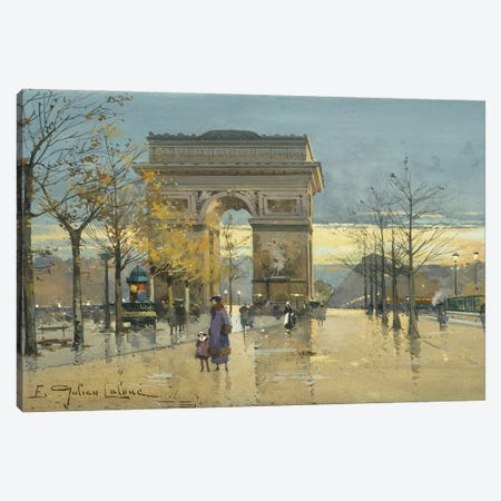 Arc de Triomphe Canvas Print #BMN11310} by Eugene Galien-Laloue Canvas Artwork