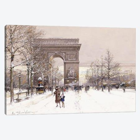 L' Arc de Triomphe Canvas Print #BMN11312} by Eugene Galien-Laloue Canvas Artwork