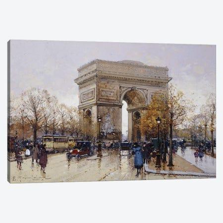 L' Arc de Triomphe, Paris Canvas Print #BMN11313} by Eugene Galien-Laloue Canvas Wall Art