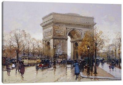 L' Arc de Triomphe, Paris Canvas Art Print
