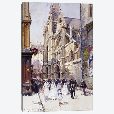 Les Communiantes A Paris Canvas Print #BMN11314} by Eugene Galien-Laloue Canvas Art Print