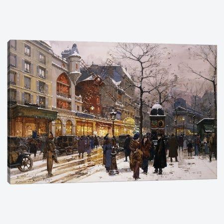 Matinee Au Moulin Rouge, Paris Canvas Print #BMN11315} by Eugene Galien-Laloue Canvas Art Print