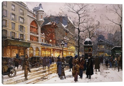 Matinee Au Moulin Rouge, Paris Canvas Art Print