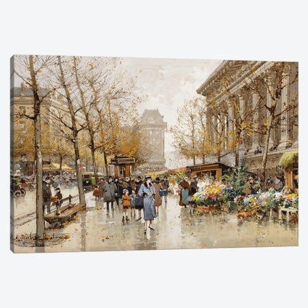 Paris Street In Autumn Canvas Print #BMN11317} by Eugene Galien-Laloue Canvas Print