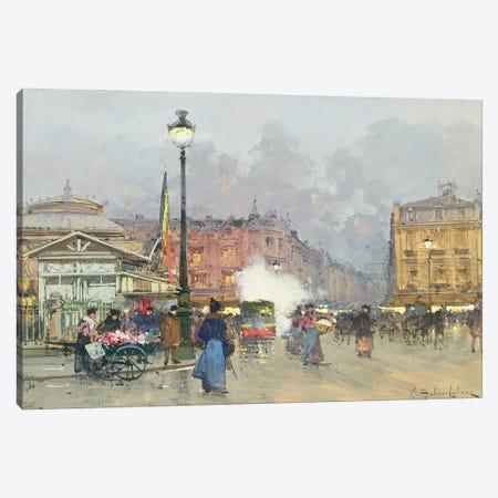 Place de l'Opera, Paris Canvas Print #BMN11318} by Eugene Galien-Laloue Canvas Wall Art