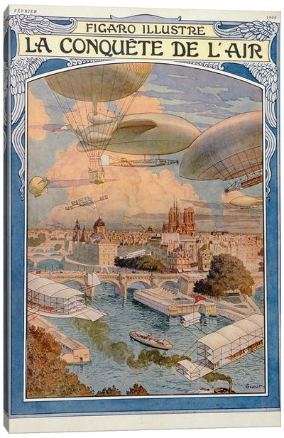 The Conquest Of The Air, 1909 Canvas Art Print