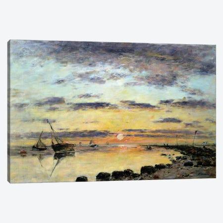 Le Havre, 1889 Canvas Print #BMN11327} by Eugene Louis Boudin Canvas Art