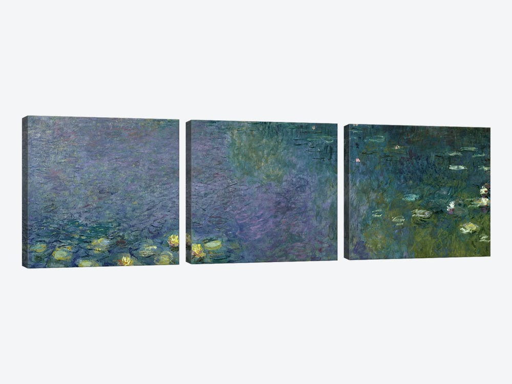 Waterlilies: Morning, 1914-18  by Claude Monet 3-piece Art Print