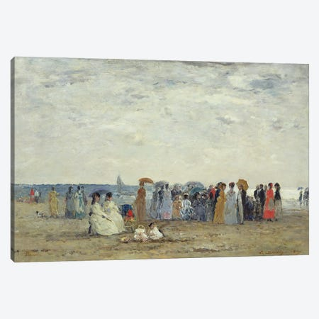 Swimmers On Trouville Beach, 1869 Canvas Print #BMN11331} by Eugene Louis Boudin Canvas Wall Art