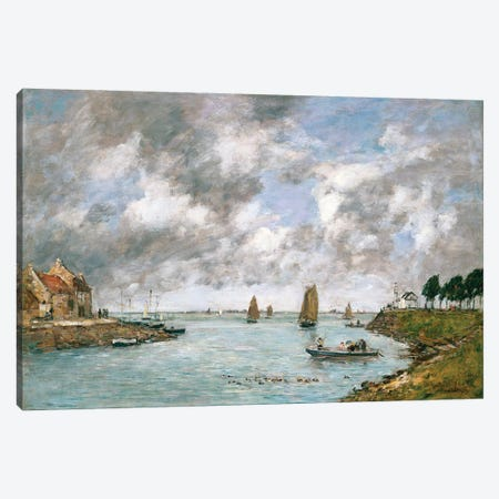 The Mouth Of The River Somme, St. Valery-Sur-Somme, 1891 Canvas Print #BMN11334} by Eugene Louis Boudin Canvas Print