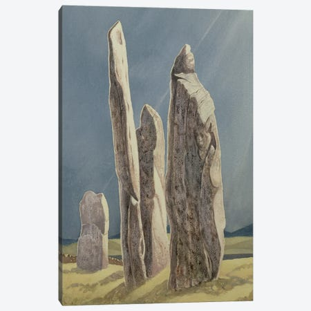 Tall Stones Of Callanish, Isle Of Lewis, 1986-87 Canvas Print #BMN11338} by Evangeline Dickson Canvas Art