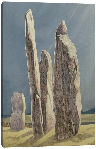 Tall Stones Of Callanish, Isle Of Lewis, 1986-87 Canvas Art Print
