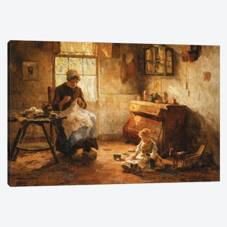 Afternoon Pastimes Canvas Print #BMN11340} by Evert Pieters Canvas Print