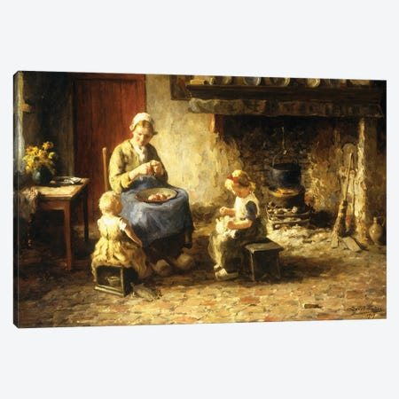 Afternoon Pastimes, 1917 Canvas Print #BMN11341} by Evert Pieters Canvas Art Print