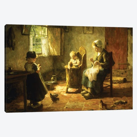 An Idle Afternoon, 1920 Canvas Print #BMN11342} by Evert Pieters Canvas Print