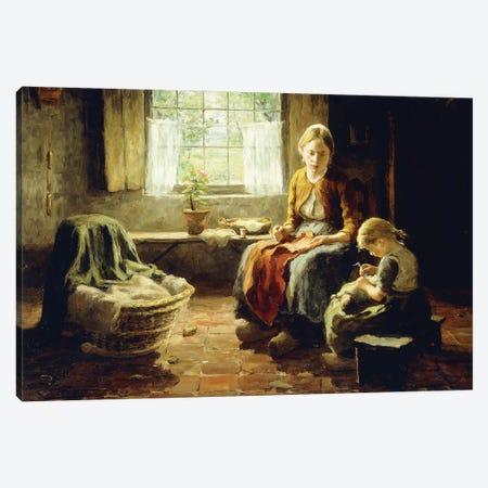 Spring Sunshine, 1913 Canvas Print #BMN11343} by Evert Pieters Canvas Print