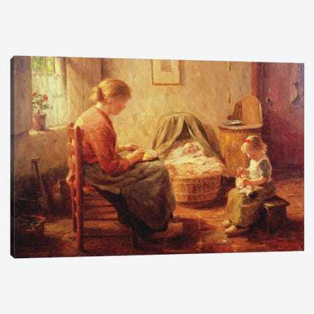 The New Baby Canvas Print #BMN11344} by Evert Pieters Canvas Art