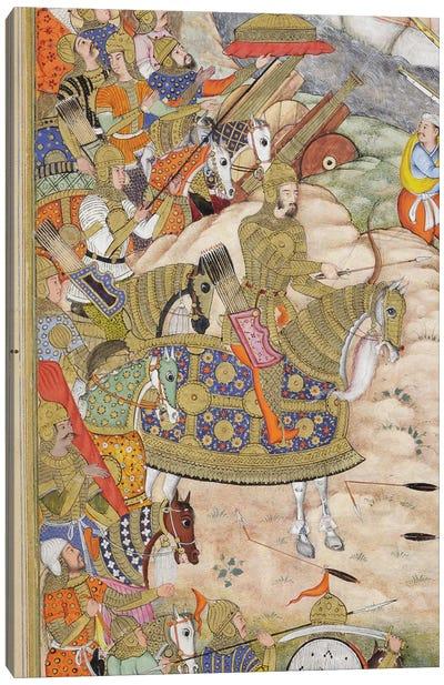 Detail Of Babur, Babur's Troops Take The Fortress At Kabul, c.1590-1600 Canvas Art Print