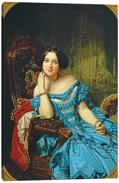 Portrait Of Amalia de Llano y Dotres, Countess Of Vilches, 1853 Canvas Art Print