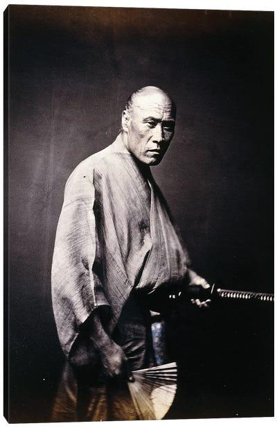 A Japanese Samurai, c.1864-66 Canvas Art Print
