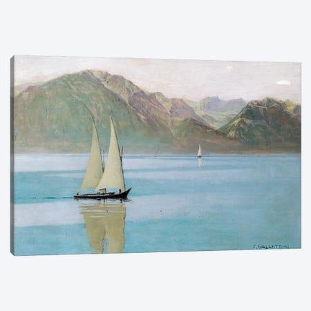 Boat On Lake Geneva, 1892 Canvas Print #BMN11354} by Felix Edouard Vallotton Canvas Art Print
