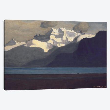 Lac Leman And Les Dents du Midi, 1919 Canvas Print #BMN11357} by Felix Edouard Vallotton Canvas Print