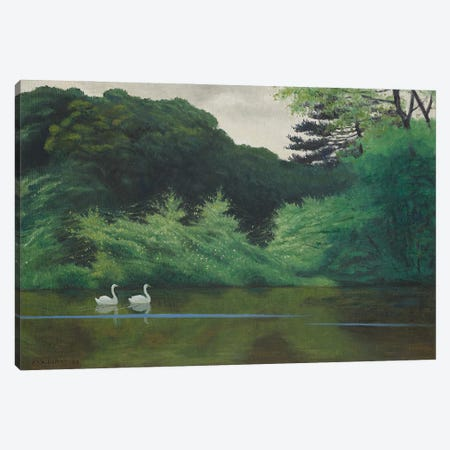 L'Ile du Lac Saint-James, 1922 Canvas Print #BMN11359} by Felix Edouard Vallotton Canvas Art