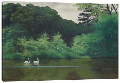 L'Ile du Lac Saint-James, 1922 Canvas Art Print