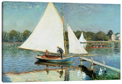 Sailing at Argenteuil, c.1874  Canvas Art Print