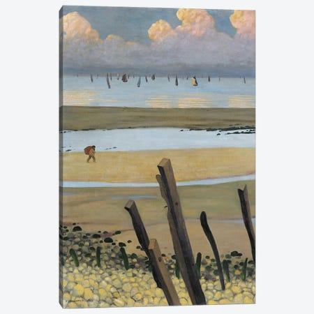Low Tide At Villerville, 1922 Canvas Print #BMN11360} by Felix Edouard Vallotton Canvas Print