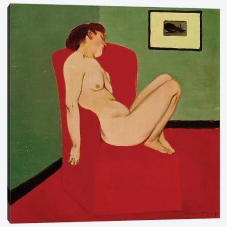 Seated Female Nude, 1897 Canvas Print #BMN11362} by Felix Edouard Vallotton Art Print