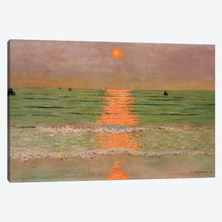 Sunset, 1913 Canvas Print #BMN11363} by Felix Edouard Vallotton Canvas Art Print