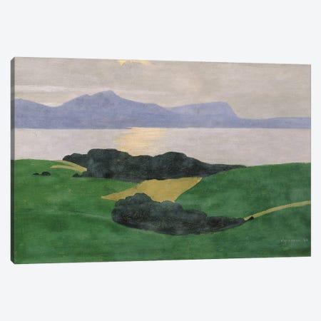 The Saleve And The Lake, 1900 Canvas Print #BMN11366} by Felix Edouard Vallotton Canvas Art