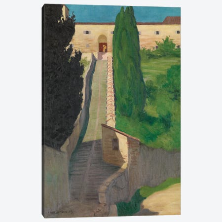 The Steps Of The Convent Of San Marco, Perugia, 1913 Canvas Print #BMN11367} by Felix Edouard Vallotton Canvas Art