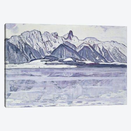 Stockhorn Verschneit, 1913-14 Canvas Print #BMN11371} by Ferdinand Hodler Canvas Wall Art