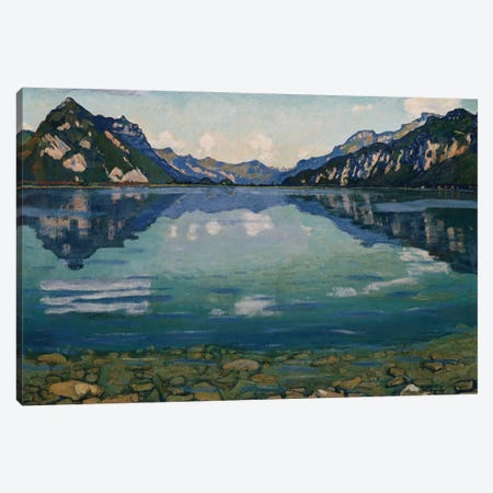 Thunersee With Reflection, 1904 Canvas Print #BMN11374} by Ferdinand Hodler Canvas Art Print