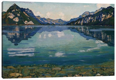 Thunersee With Reflection, 1904 Canvas Art Print